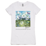 Flannel Flower Women's Shirt - White