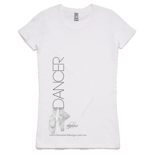 Dancer Women's Shirt - White - Side Design