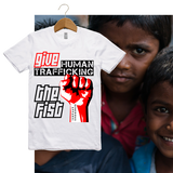 Guy's GIVE HUMAN TRAFFICKING THE FIST Tees-Light