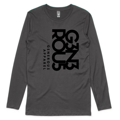 Guy's Black G3N3ROU5 GA Ink Long Sleeve