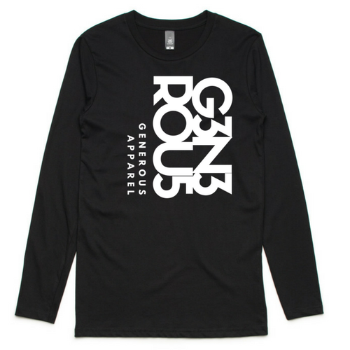 Guy's White G3N3ROU5 GA Ink Long Sleeve