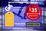 Generous Apparel Gift Cards