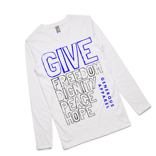 Guy's GIVE FREEDOM Long Sleeve Tee