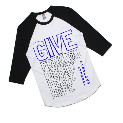 GIVE FREEDOM - Unisex 3/4 Sleeve Raglan