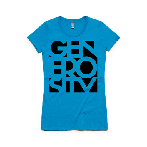 Girl's Black GENEROSITY Wafer T-Shirt