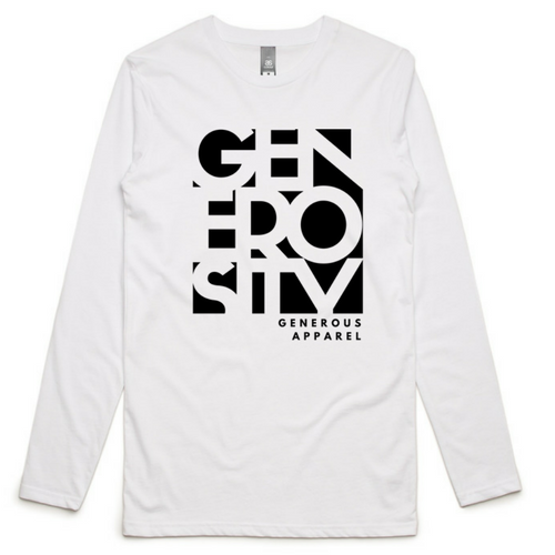 Guy's Black Generosity GA Ink Long Sleeve