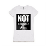 Girl's NOT FOR SALE Wafer Tee