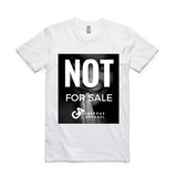 Guy's NOT FOR SALE Staple Tee