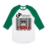 PEOPLE ARE NOT FOR SALE - Unisex Raglan 3/4 Sleeve