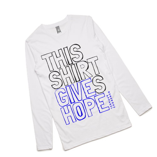 Guy's THIS SHIRT GIVES HOPE Long Sleeve Tee
