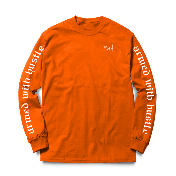 AWH LONGSLEEVE TEE (ORANGE/WHITE)