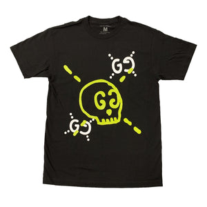 GG Skull - Black/Lime