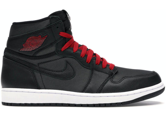 Jordan 1 High Black Satin Gym Red