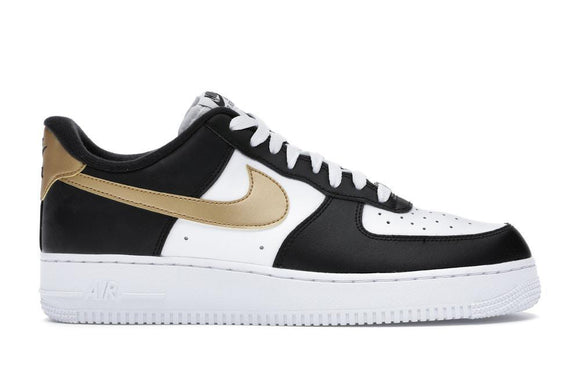 Nike Air Force 1 Low Black White Metallic Gold