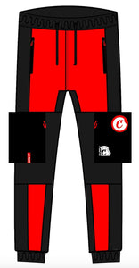 GLACIERS OF ICE FLEECE SWEATPANT - Red