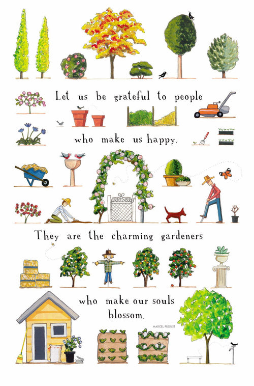 A Day in the Garden [Greeting Card]