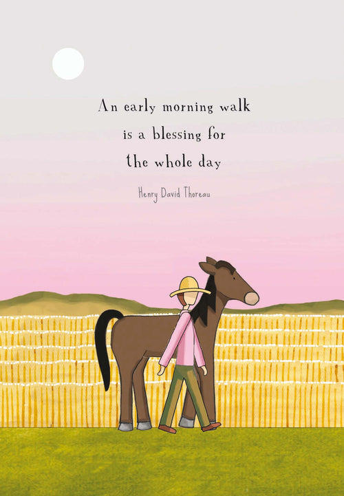 An Early Morning Walk [Greeting Card]