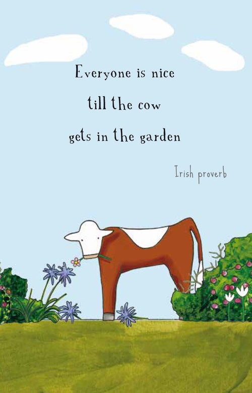 Cow in the Garden [Greeting Card]