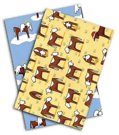 'Hark' The Herefords/'Santa Gertrudis' is Coming to Town [GREETING CHRISTMAS CARDS - 10 PACK]