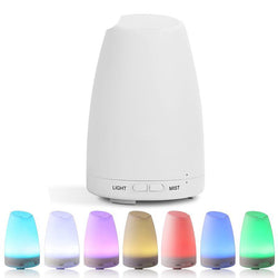 Ultrasonic Essential Oil Diffuser 7Color LED light for home bedroom living room study yoga - Essential Oil Accessories