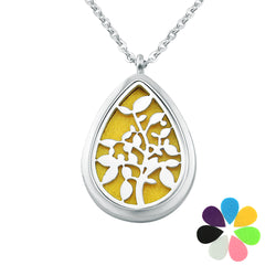leaves water drop essential oil diffuser necklace - Essential Oil Accessories