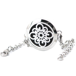 Happy flower Essential Oil Stainless Steel Diffuser bracelet - Essential Oil Accessories