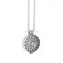 Eternal Flower Vintage Essential Oil Diffuser Necklace - Essential Oil Accessories