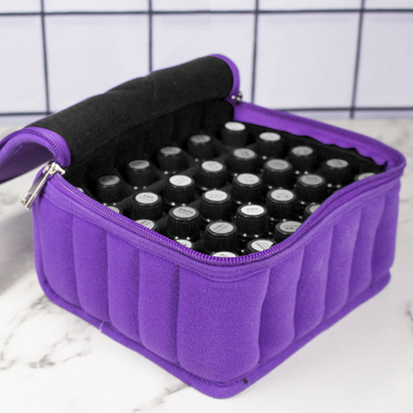 30 Bottles Essential Oils Bag Lattices Cosmetic Bag 15ml Oil Carrying Holder Portable Travel Storage Box - Essential Oil Accessories