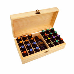 Wooden Storage Box 1pc Carry Organizer Essential Oil Bottles Aromatherapy Container Metal Lock - Essential Oil Accessories