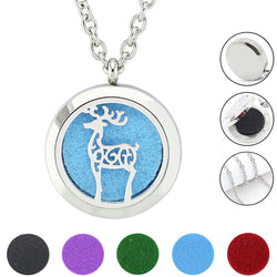 Jewelry & Accessories Essential Oil Diffuser Stainless Steel Face Expression Necklace Pendant Glow In The Dark Jewelry Aromatherapy Necklaces Necklaces & Pendants