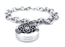 Silver Lotus Flower Essential Oils Diffuser Bracelet - Essential Oil Accessories