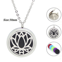 Lotus Flower Essential Oil Necklace - Essential Oil Accessories