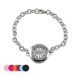 Eternal Flower Stainless Steel Essential Oil Diffusing Bracelet - Essential Oil Accessories