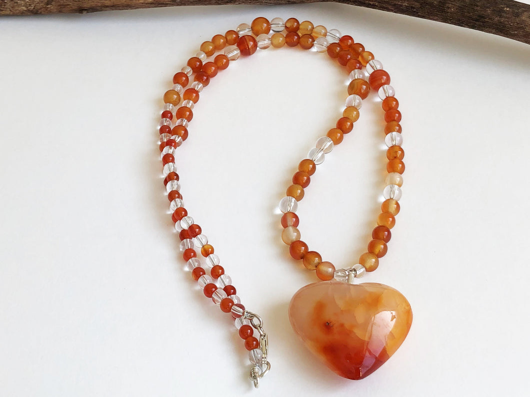 Frances Ricketts Carnelian Heart Necklace