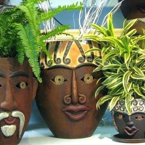 Plant Some Personality - Clay Planters with Faces