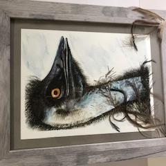"Veronica Hodges Watercolour Painting ""Ernestine Emu"""