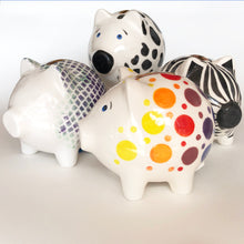 Load image into Gallery viewer, Dawn Beasley Porcelain Piggy Banks