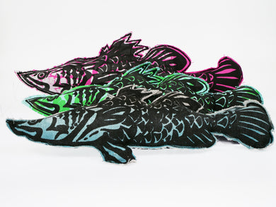 Karen Johnson Screen Printed Fish
