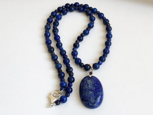 Frances Ricketts Lapis Lazuli Oval Necklace