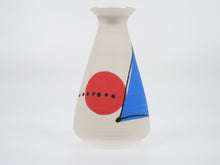 Load image into Gallery viewer, Annie Gastin Red/Blue Jetsons Vase
