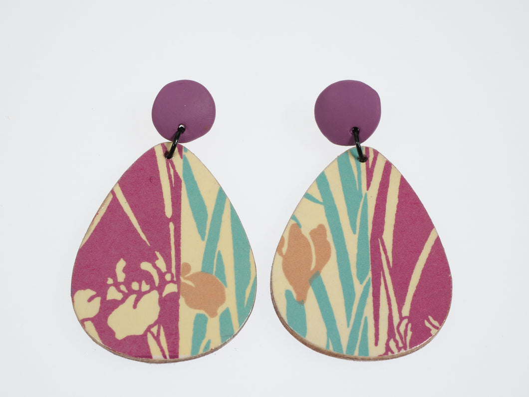 Made By Mariye Tear Drop Decoupaged Earrings
