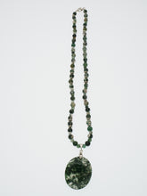 Load image into Gallery viewer, Frances Ricketts Moss Agate Pendant Necklace