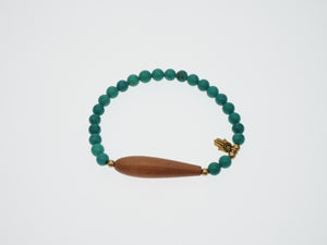 Frances Ricketts Turquoise and Teak Bead Bracelet