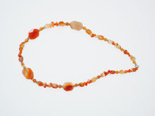 Load image into Gallery viewer, Frances Ricketts Carnelian Agate Bead Necklace
