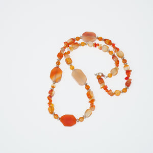 Frances Ricketts Carnelian Agate Bead Necklace