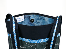 Load image into Gallery viewer, MPH Blueleaves Sashiko Bag