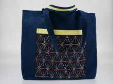 Load image into Gallery viewer, MPH Blueleaves Sashiko Market Bag