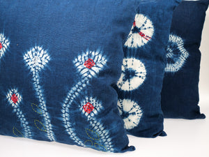 MPH Blueleaves Linen Cushion