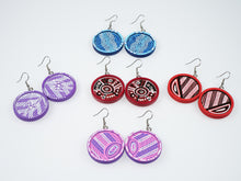 Load image into Gallery viewer, Danella Lee Large Hand Painted Wooden Earrings