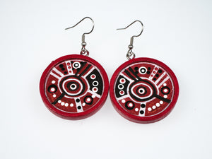 Danella Lee Large Hand Painted Wooden Earrings
